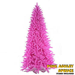 Pink Ashley Spruce Lighted Christmas Tree | Hot Pink Christmas